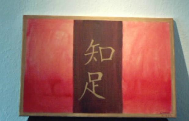 Malerei, Abstrakt, Chinesisch, Zufriedenheit
