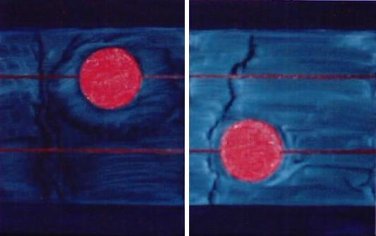 Punkt, Abstrakt, Malerei, Rot