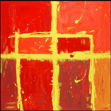 Acrylmalerei, Abstrakt, Malerei, Sommer