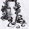 Portrait, Zeichnung, Zeichnungen, Girls