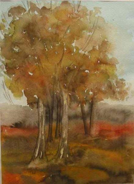 Malerei, Landschaft, Herbst