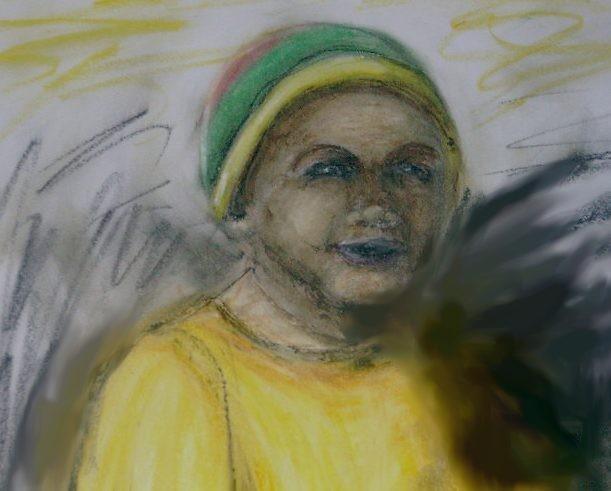 Portrait, Kind, Zeichnung, Zeichnungen
