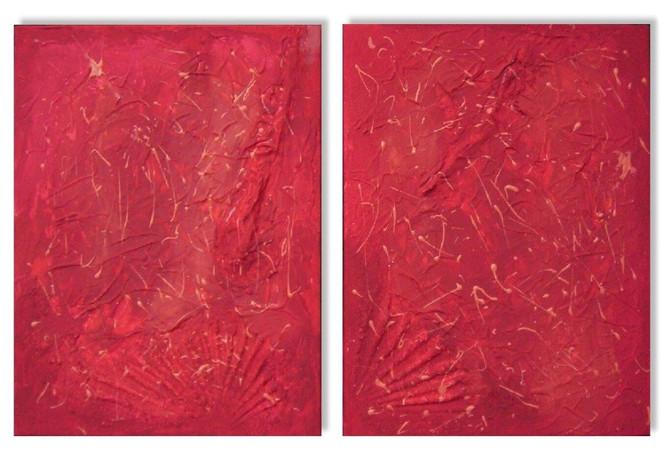 Rot, Struktur, Malerei,