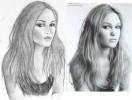 Zeichnung, Stil, Portrait, Schauspieler