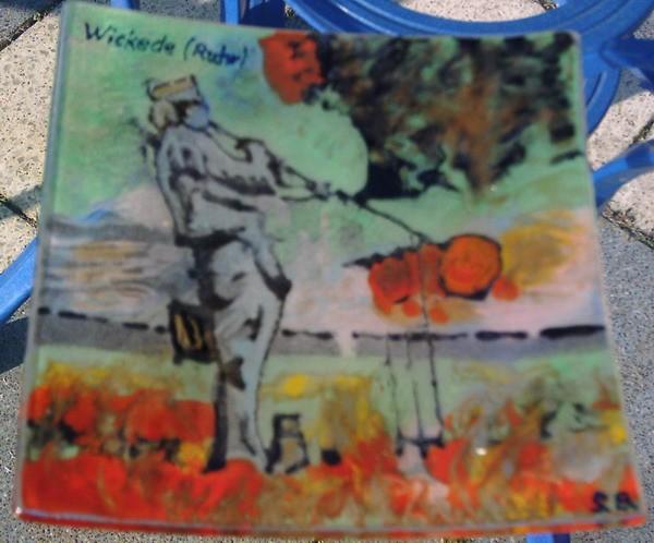 Wandbeschriftung, Glas, Popart, Albun, Fusing, Wickede