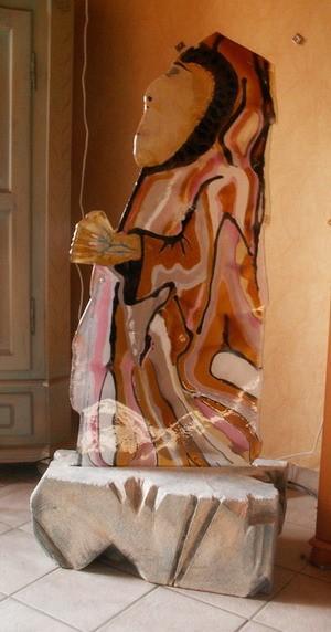 Eskimo, Stein, Glas, Eis, Kunsthandwerk, Wandbeschriftung