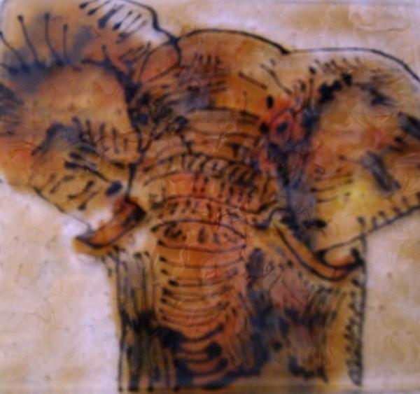 Glas, Elefant, Wandbeschriftung, Afrika, Fusing,