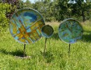 Glas, Blau, Gegenstände, Kreis