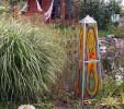 Gartenkunst, Lichtsäule, Glas, Farben