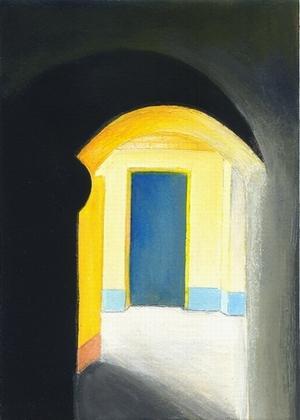 Süden, Haus, Gelb, Malerei, Architektur,