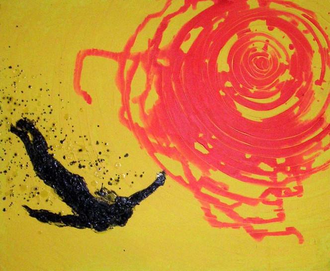 Abstrakt, Icarus, Fliegen, Malerei, Tropfen, Acrylmalerei
