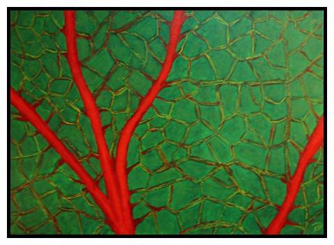 Saft, Makro, Blätter, Abstrakt, Energie, Malerei