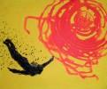 Abstrakt, Icarus, Fliegen, Malerei