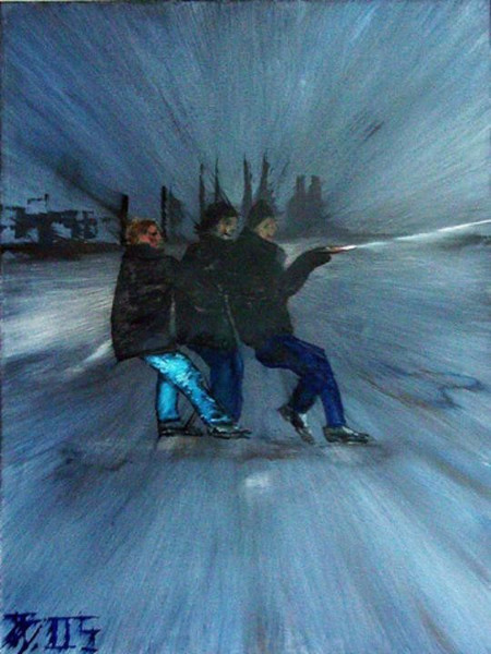 Figural, Weihnachten, Malerei, Nordsee, Windstärke,