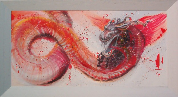 Drache, Surreal, Japan, Feuer, Wut, Flammen