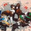Tanz, Malerei, Mauer, Wand
