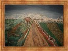 Landschaft, Blick, Wolf, Malerei