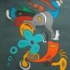 Motorrad, Pastellmalerei, Malerei,