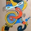 Pastellmalerei, Malerei, Clown,