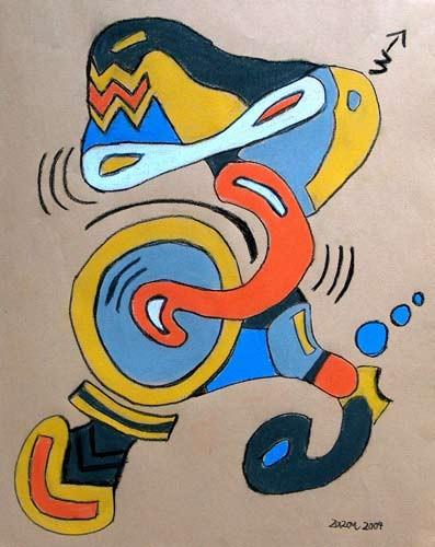 Malerei, Pastellmalerei, Clown,