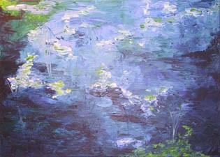 Malerei, Wasser, Blau, Grün, Abstrakt, See