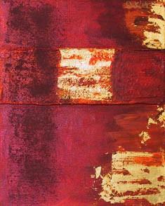 Abstrakt, Malerei, Rot, Struktur, Gold, Buch