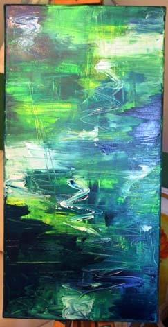 Irrlicht, Abstrakt, Wasser, Malerei, See, Blau