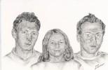 Zeichnung, Portrait, Zeichnungen, Geschwister