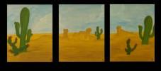 Malerei, Landschaft, Wüste
