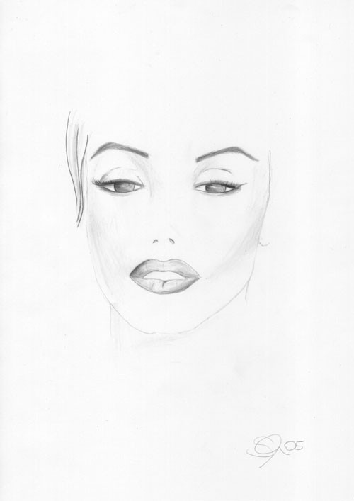 bild portrait zeichnung zeichnungen von sandra m ller bei kunstnet. Black Bedroom Furniture Sets. Home Design Ideas