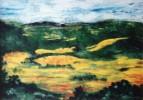 Malerei, Leuchtend, Warm, Landschaft