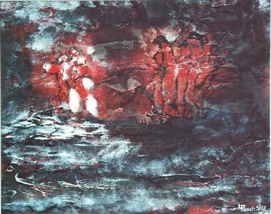 Abstrakt, Malerei, Menschen, Sozialverhalten, Tiere