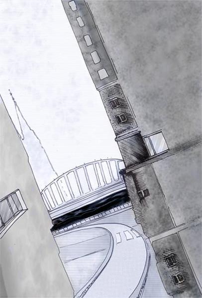 Grafik, Häuser, Stadt, Grau, Cyber, Architektur