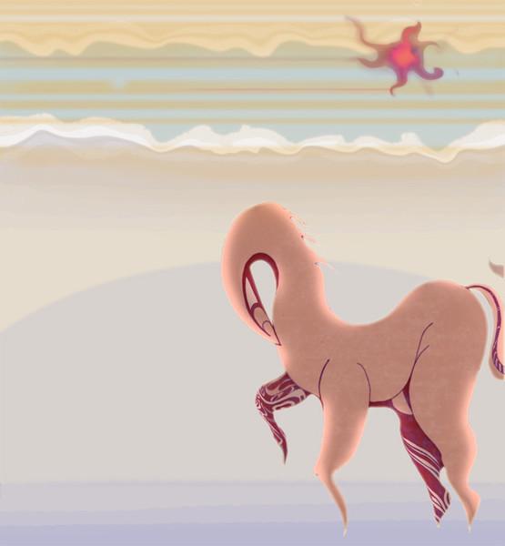 Jung, Tiere, Malerei, Natur, Pferde, Umwelt