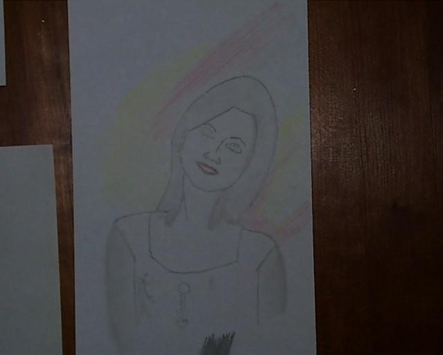 Portrait, Zeichnung, Zeichnungen, Freundin