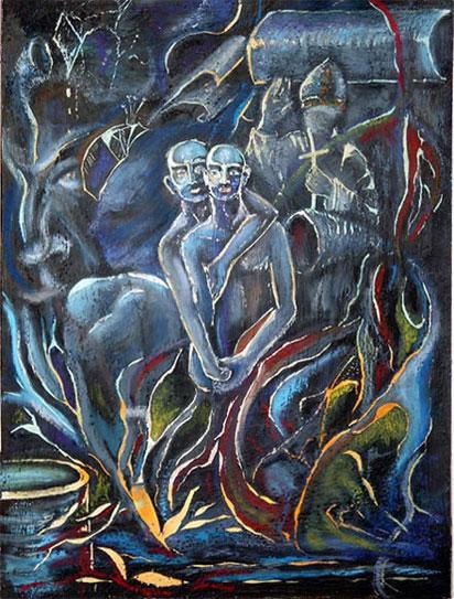 Mann, Malerei, Pontifex, Traumlandschaft, Phantasterei, Menschen