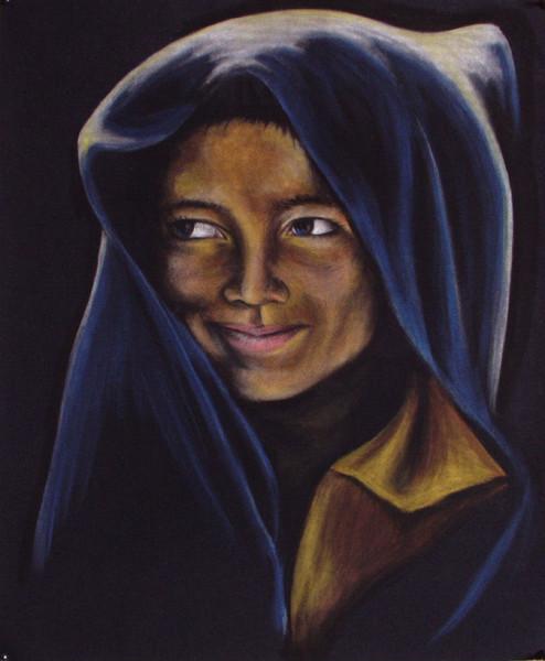 Zeichnung, Schutz, Freude, Portrait, Junge, Sand