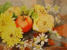 Stillleben, Malerei, Apfel