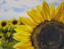 Malerei, Stillleben, Sonnenblumen