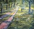 Landschaft, Malerei, Allee