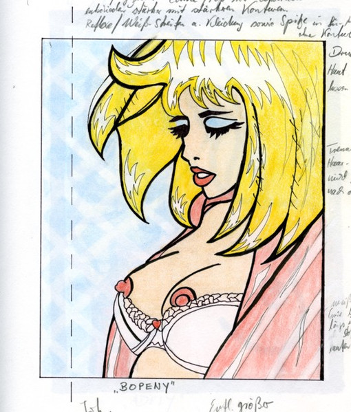 Linoldruck, Pop art, Entwurf, Skizze, Akt, Zeichnung