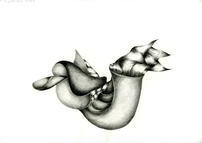Abstrakt, Sattel, Bleistiftzeichnung, Zeichnung, Schnecke, Zeichnungen