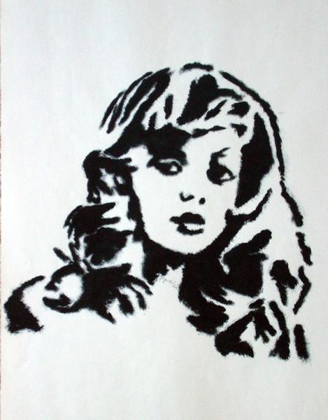Zeichnung, Druckfarbe, Portrait, Zeichnungen