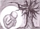 Zeichnung, Zeichnungen, Pflanzen, Baum