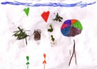 Blumen, Herz, Kinder, Kraut