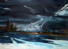 Landschaft, Meer, Wasser, Malerei