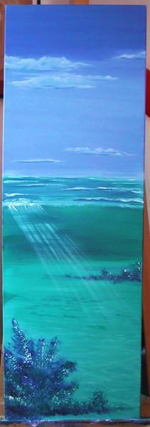Landschaft, Malerei, Meer, Wasser, Wärme, Blau