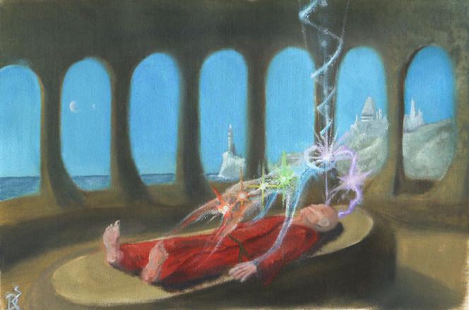 Malerei, Seele, Reise, Figural, Meer