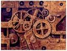 Mechanik, Farben, Uhrwerk, Metall
