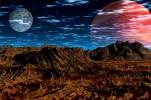 Mond, Universum, Digital, Landschaft